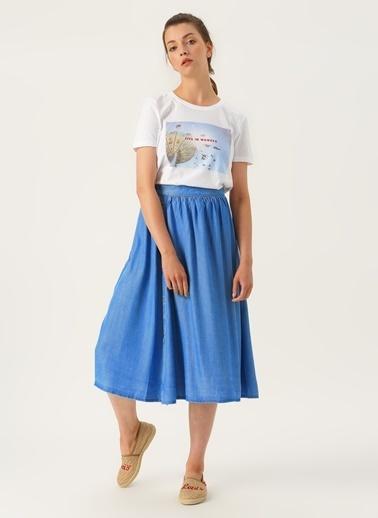 Vero Moda Vero Moda Açık Mavi Denim Etek Mavi